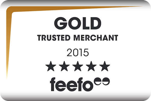 WE ARE A FEEFO GOLD TRUSTED MERCHANT OF 2015
