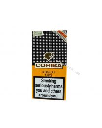 Cohiba Siglo II Tubos pack of 3 Cigars