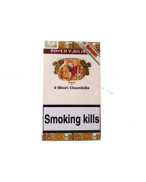 Romeo y Julieta Short Churchills Pack of 3 Cigars